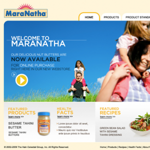 Website Design Company - Maranatha Nut Butters