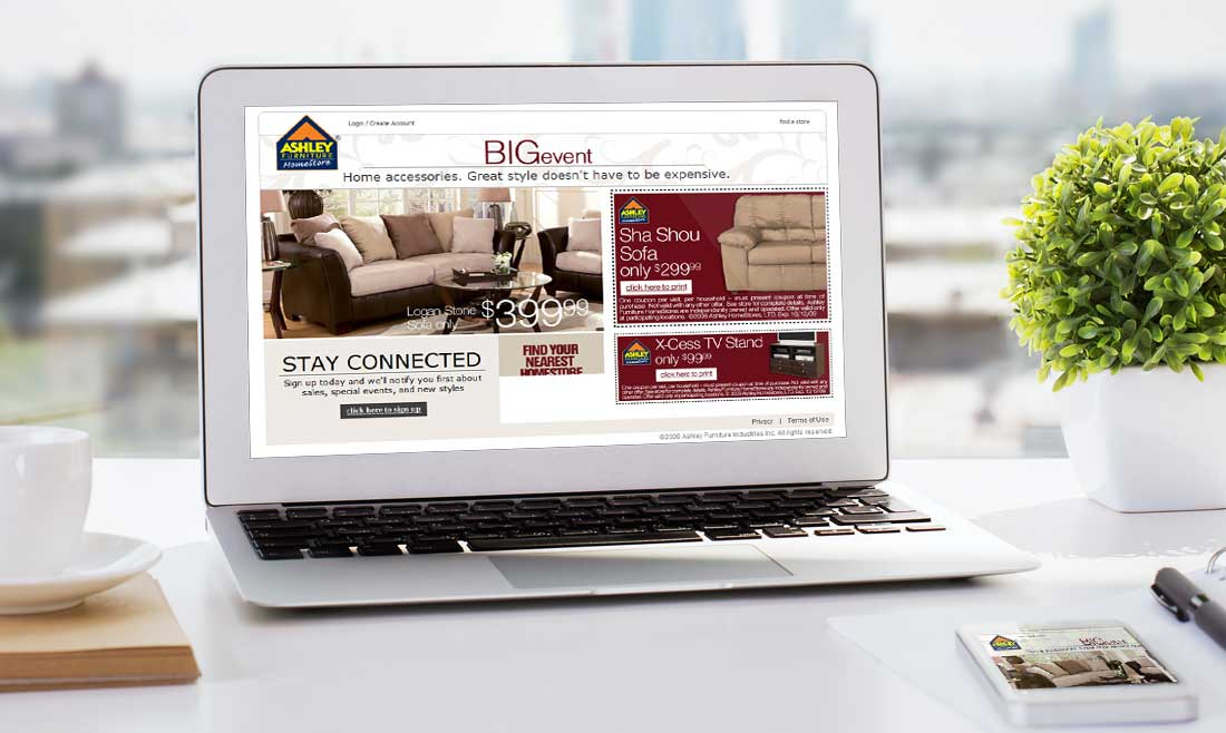 Website Design Company - Ashley Furniture Homestores