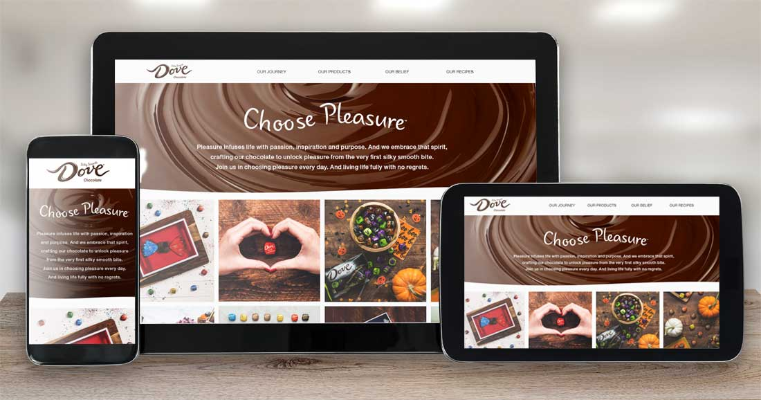 Website Design Company - Dove Chocolate