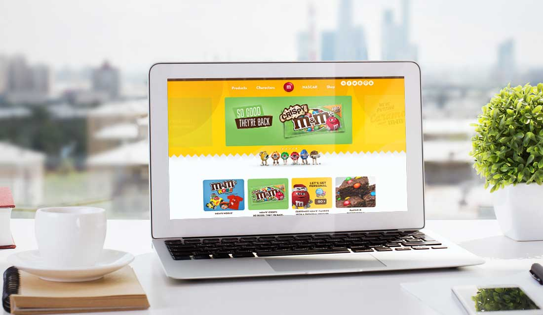 Website Design Company - M&Ms