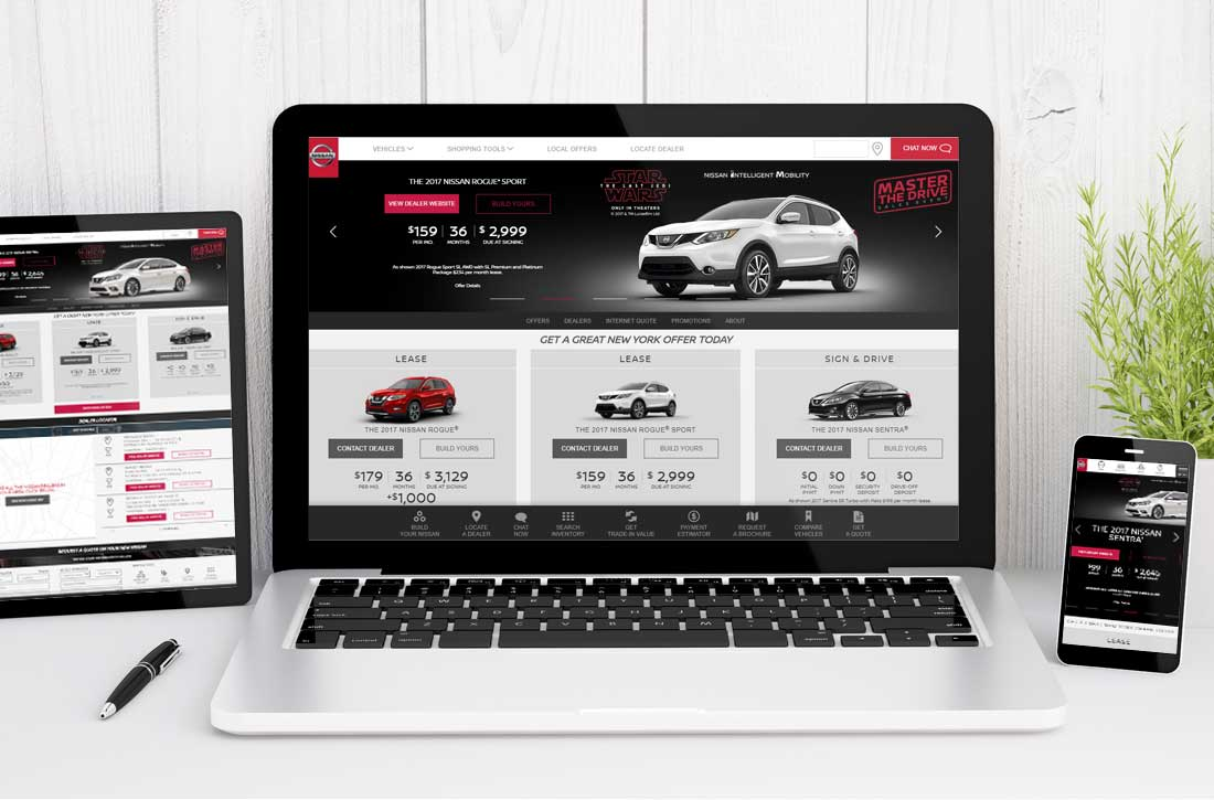 Website Design Company - choose nissan