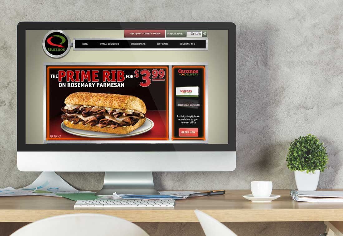 Website Design Company - Quiznos