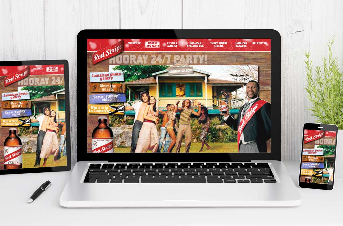 Website Design Company - Redstripe Beer